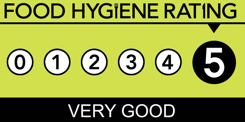 Food Hygene Rating 5 Stars