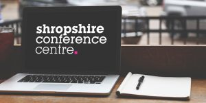 Shropshire Conference Centre Logo Laptop